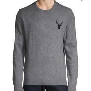 Saks Fifth Avenue Long Sleeve Deer Sweater L